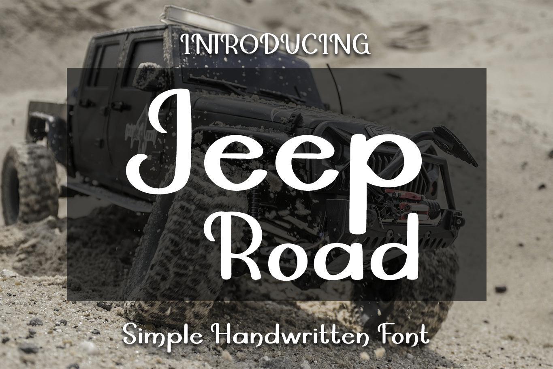 Jeep Road Brush Font