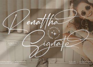 Renattha Signate Font