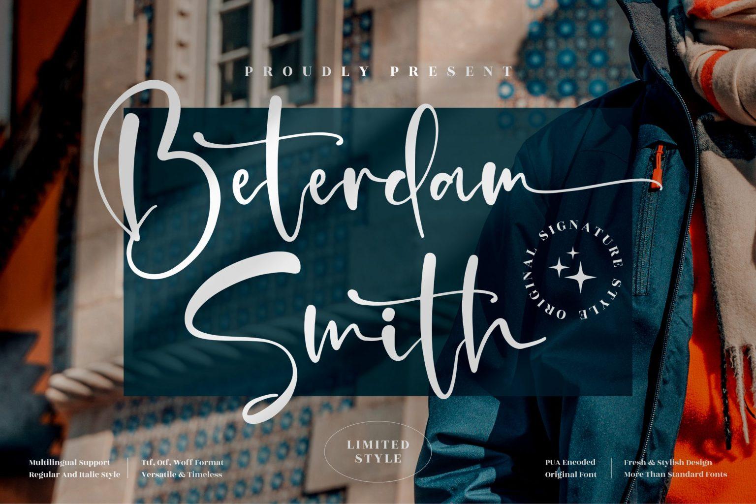 Beterdam Smith Font