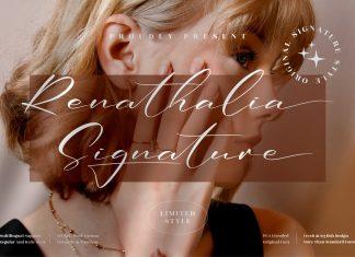 Renathalia Signature Font