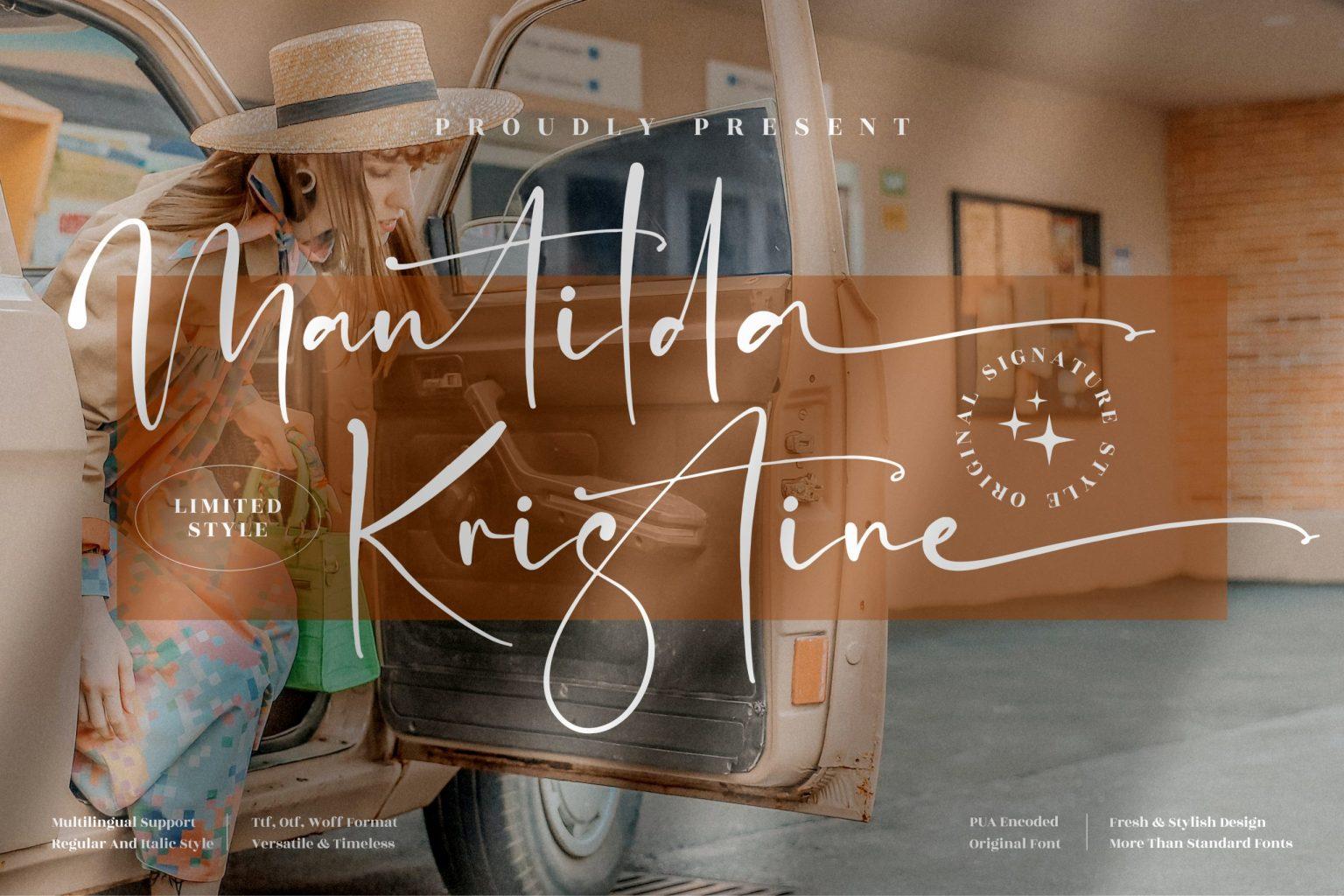 Mantilda Kristine Font