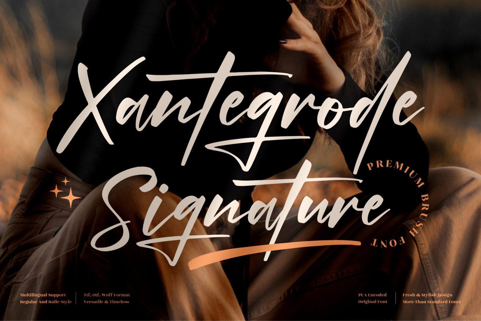 Xantegrode Signature Font