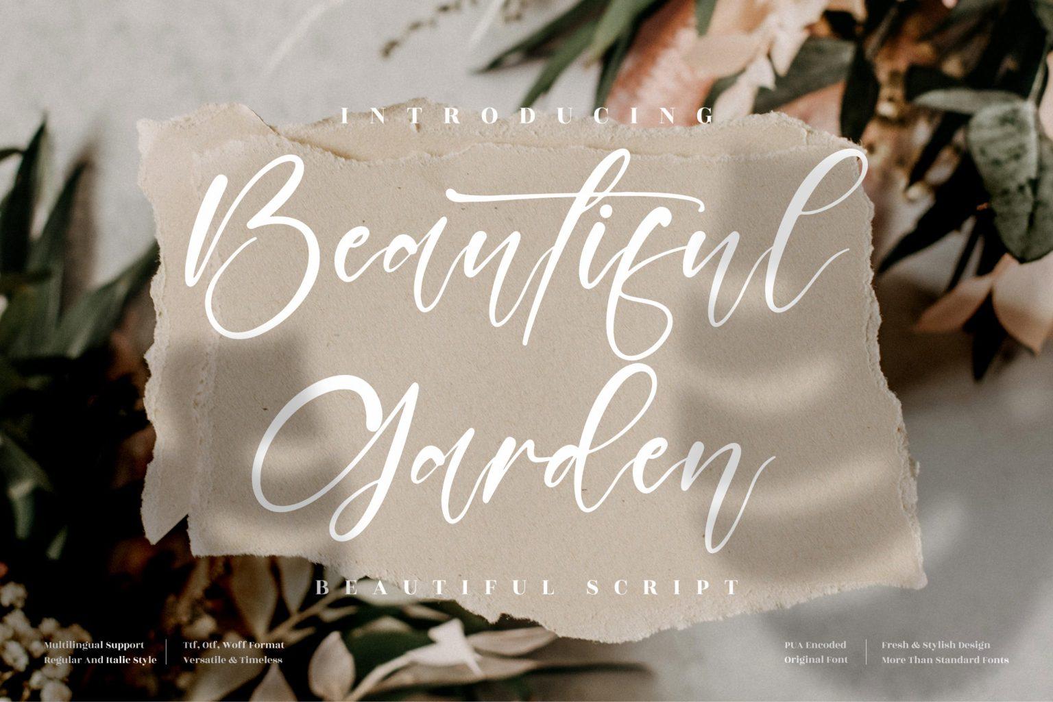 Beautiful Garden Font