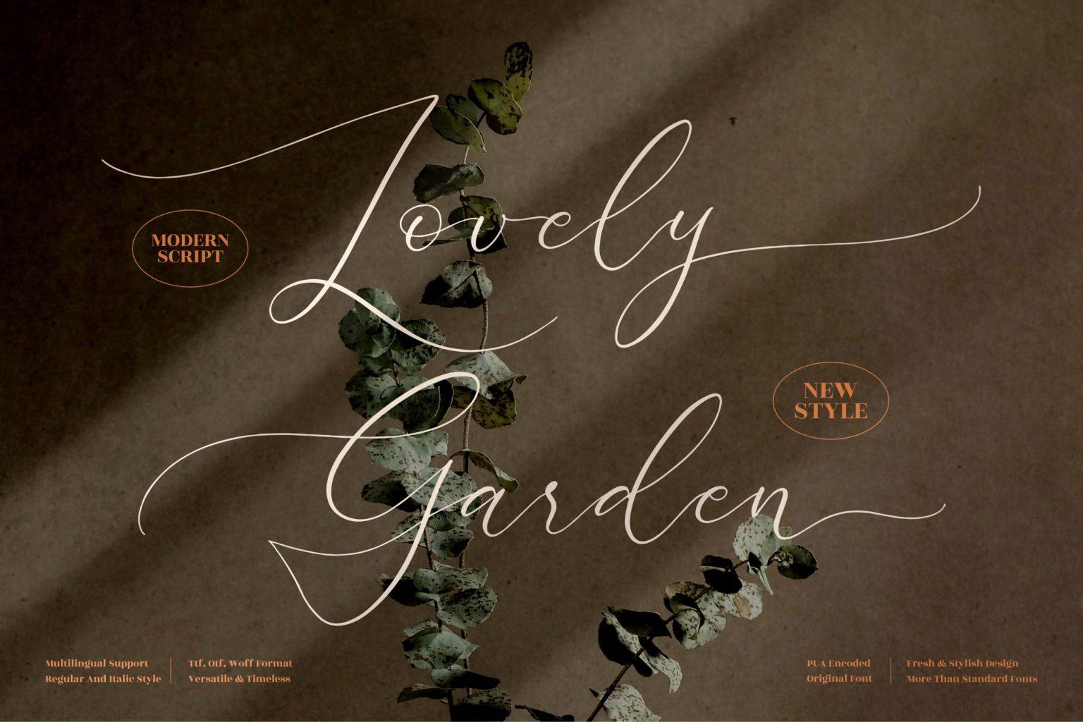 Lovely Garden Calligraphy Font
