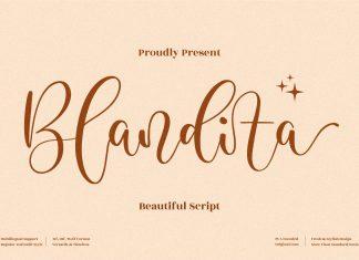 Blandita Script Font