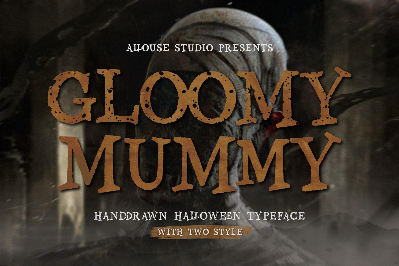 Gloomy Mummy Display Font
