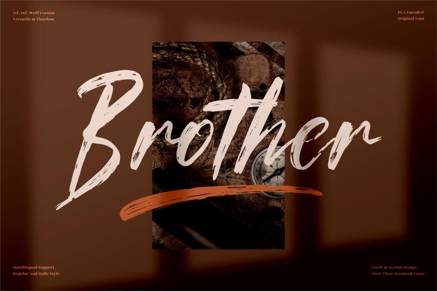 Brother Script Font