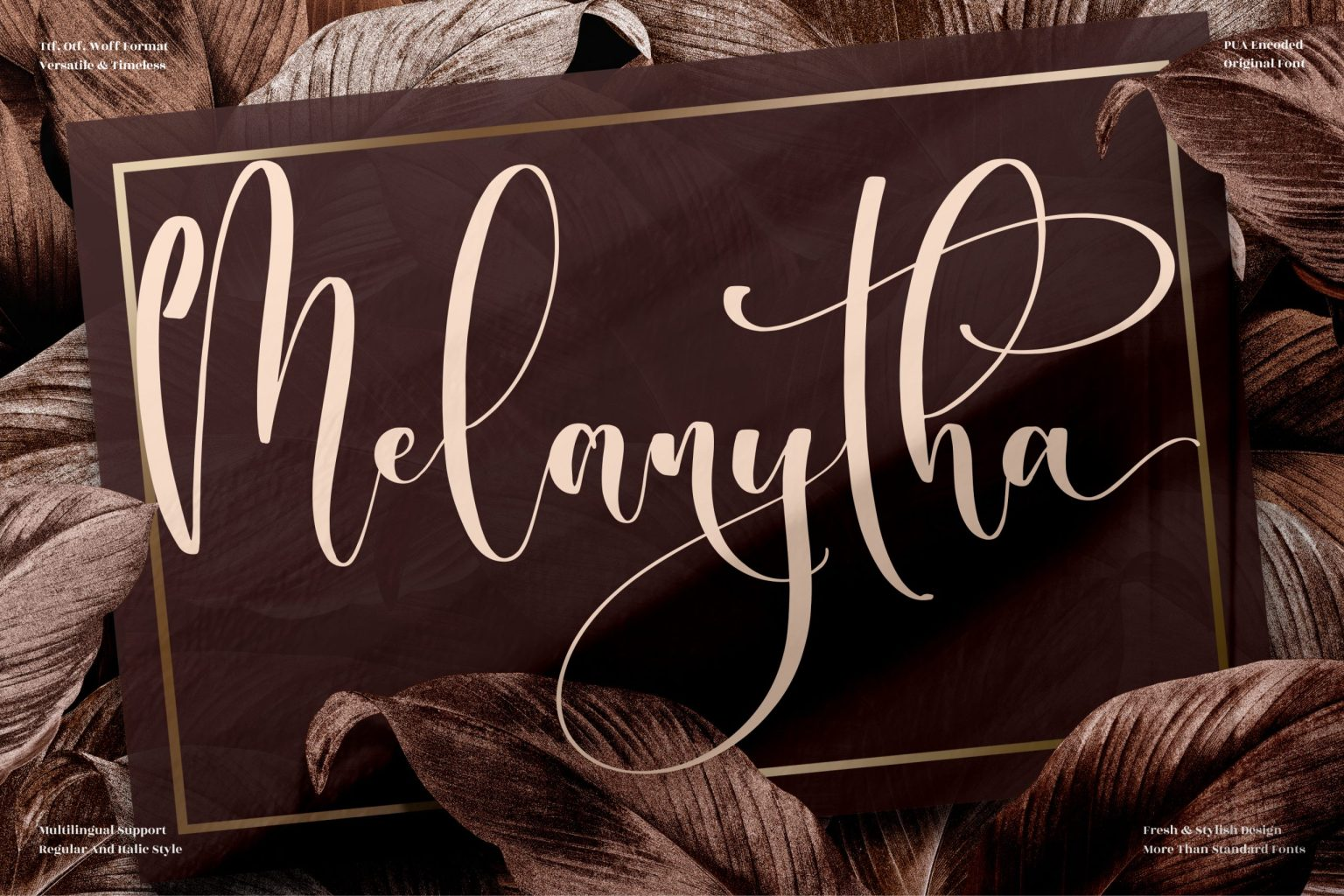 Melanytha Calligraphy Font