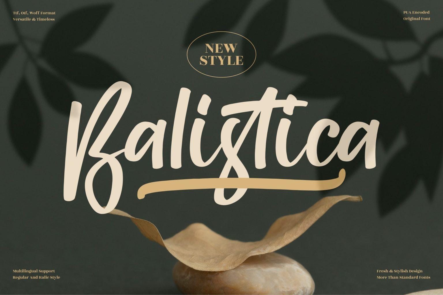 Balistica Script Font