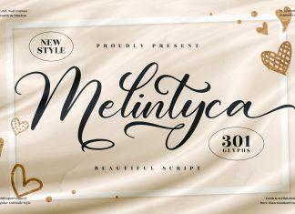 Melintyca Calligraphy Font