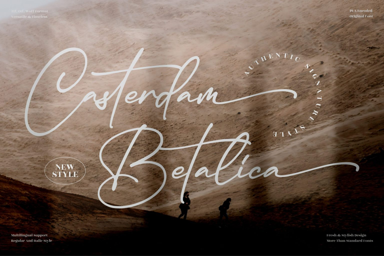 Casterdam Baletica Script Font