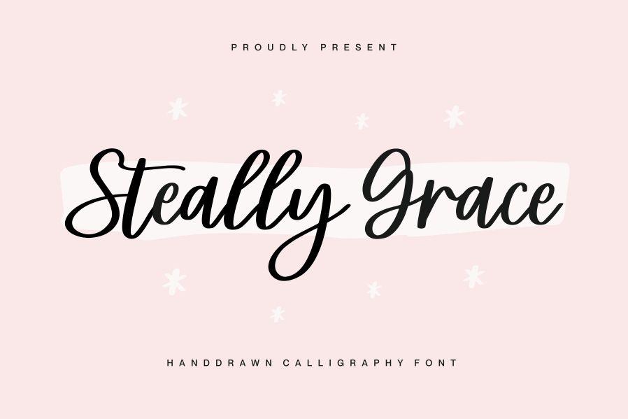 Steally Grace Script Font