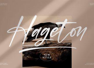Hageton Script Font