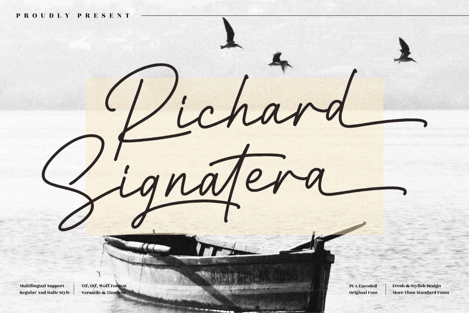 Richard Signatera Handwritten Font