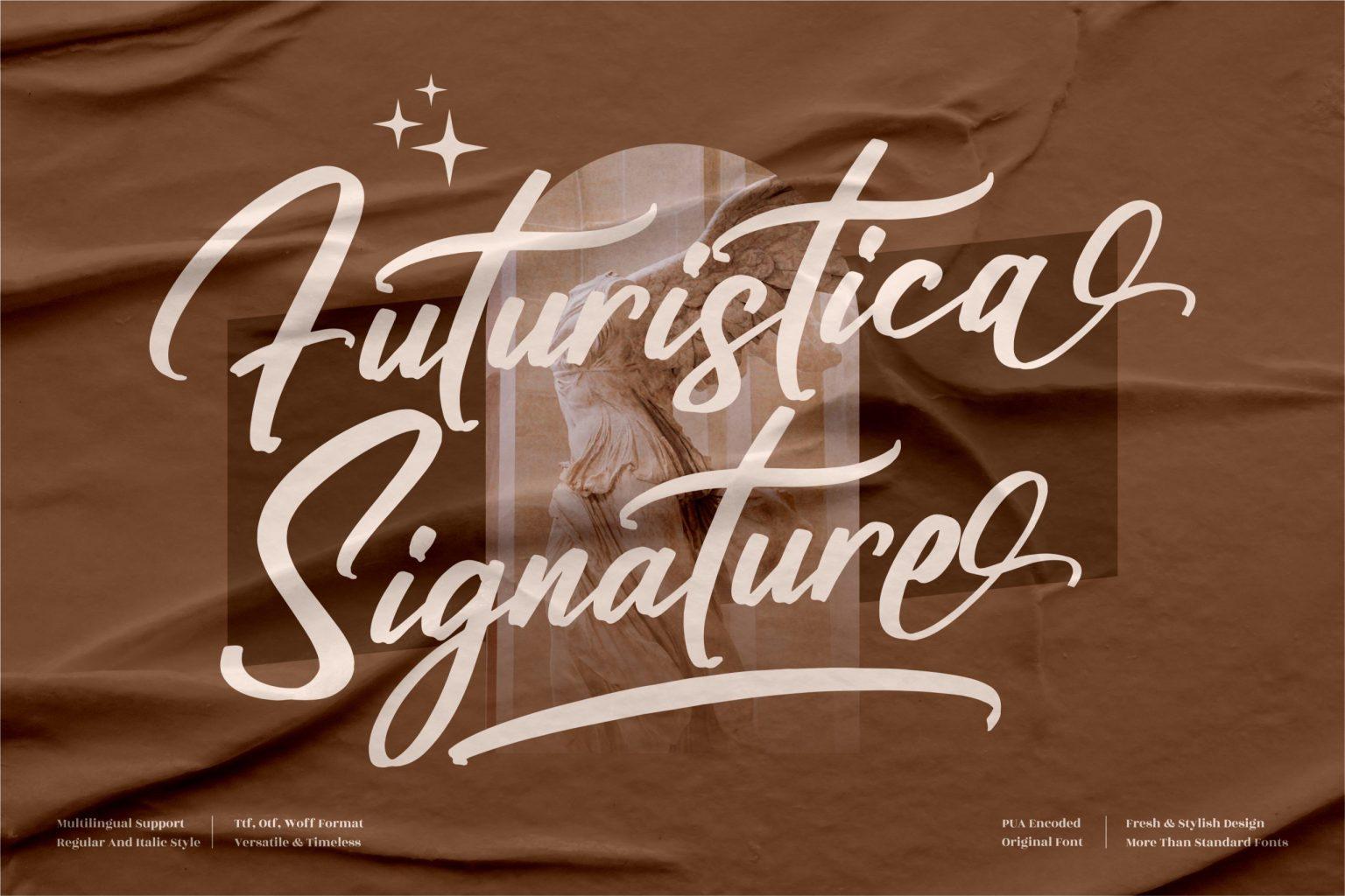 Futuristica Signature Script Font