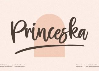 Princeska Script Font