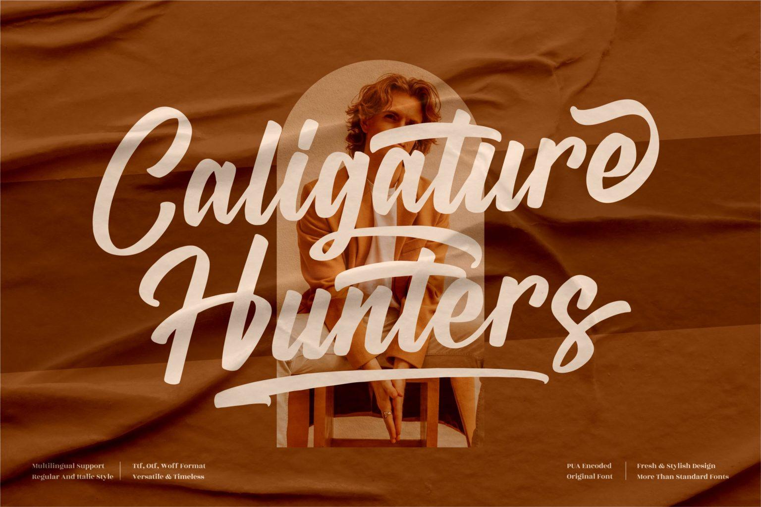 Caligature Hunters Script Font