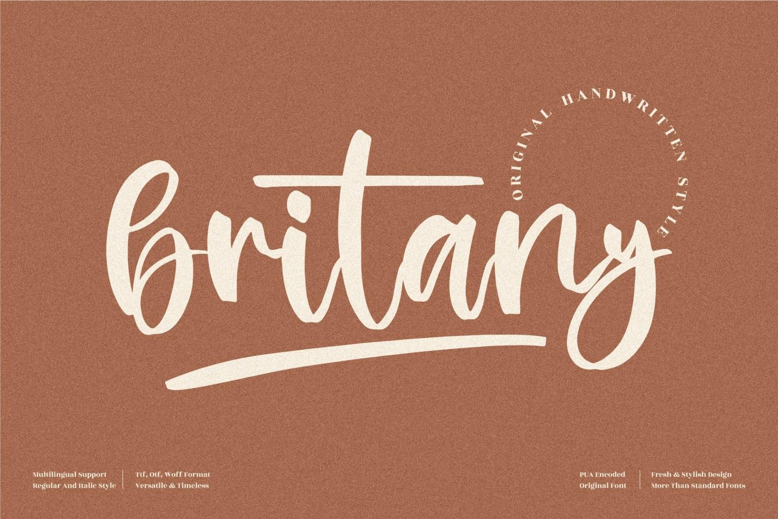 Britany Script Font