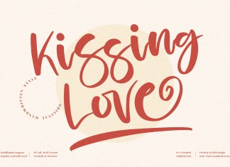 Kissing Love Script Font