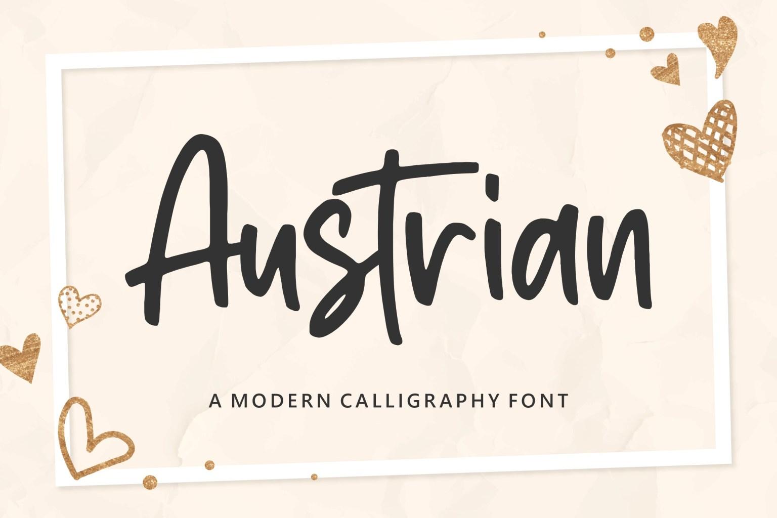 Austrian Script Font
