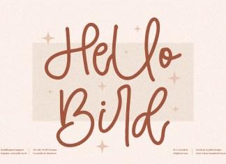 Hello Bird Handwritten Font