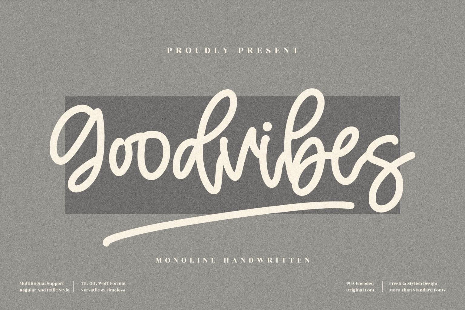Goodvibes Handwritten Font