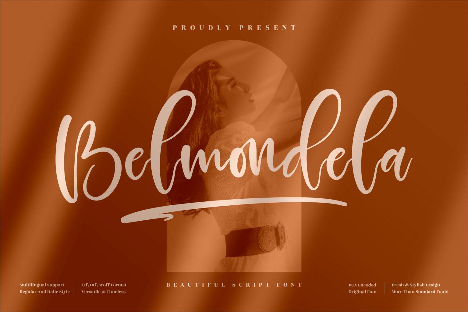 Belmondela Script Font