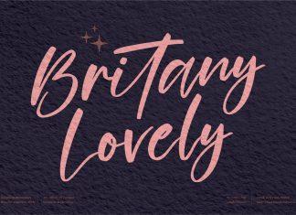 Britany Lovely Script Font