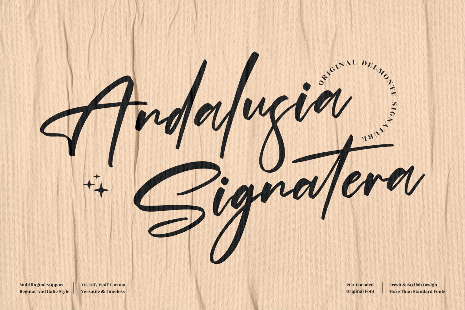 Andalusia Signatera Script Font