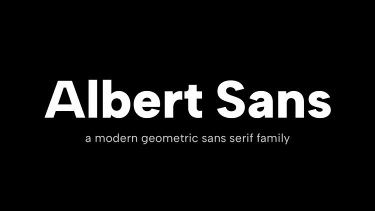 Albert Sans Font