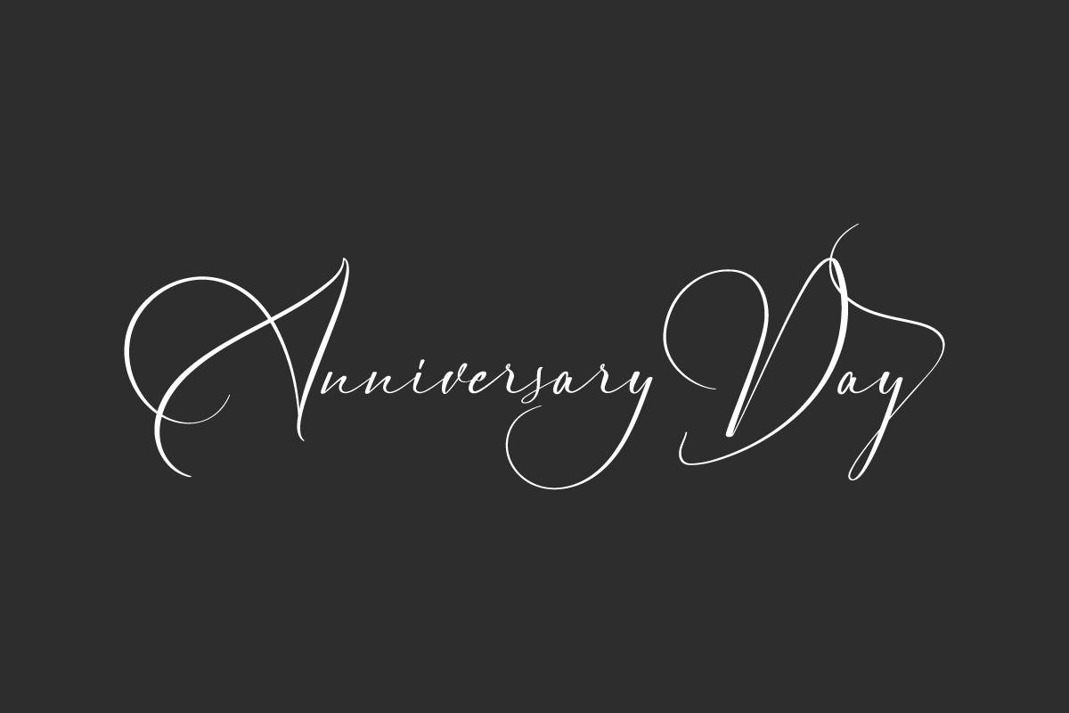 Anniversary Day Script Font