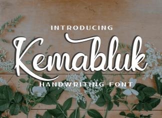 Kemabluk Calligraphy Font