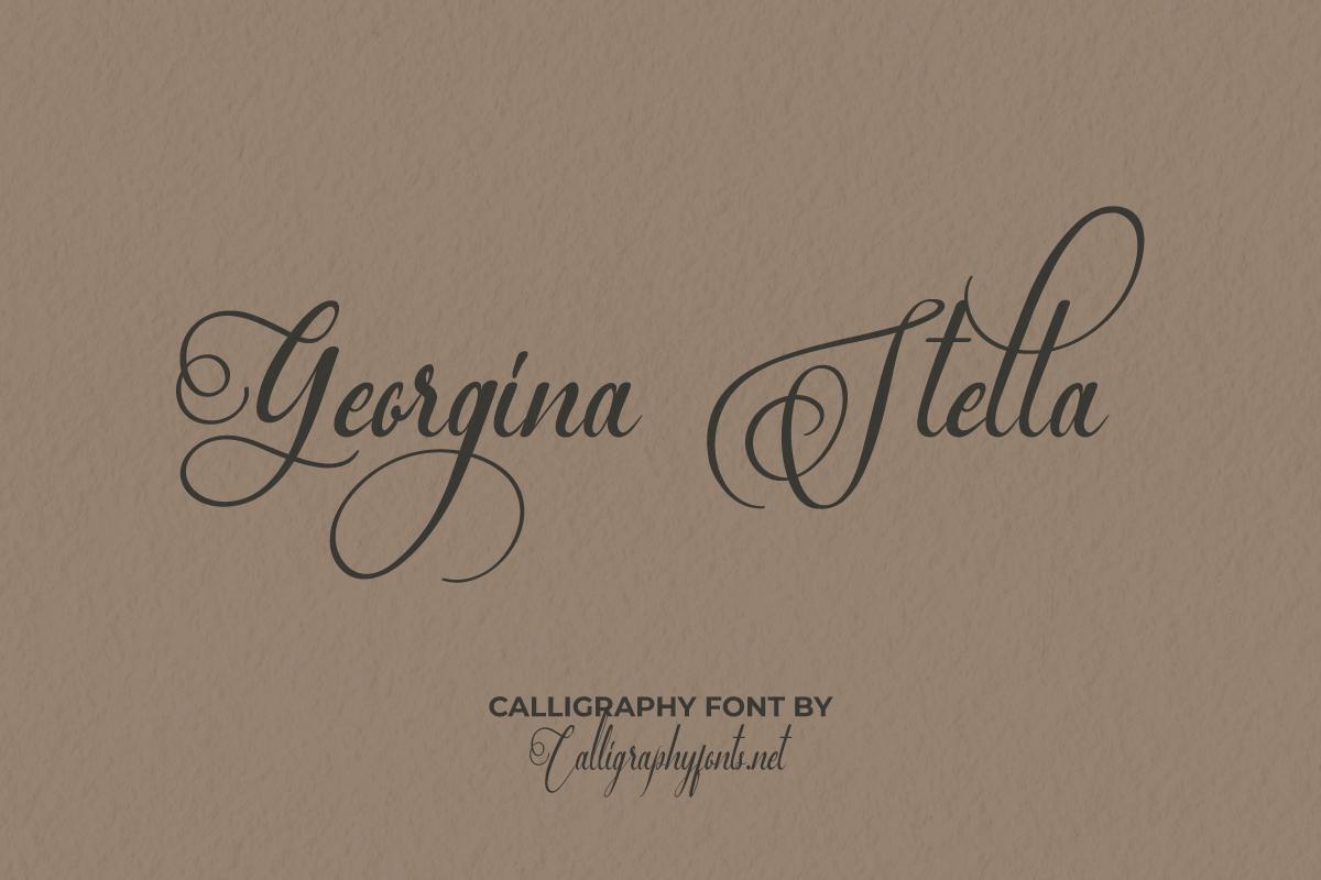 Georgina Calligraphy Font