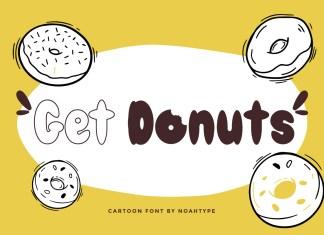 Get Donuts Display Font