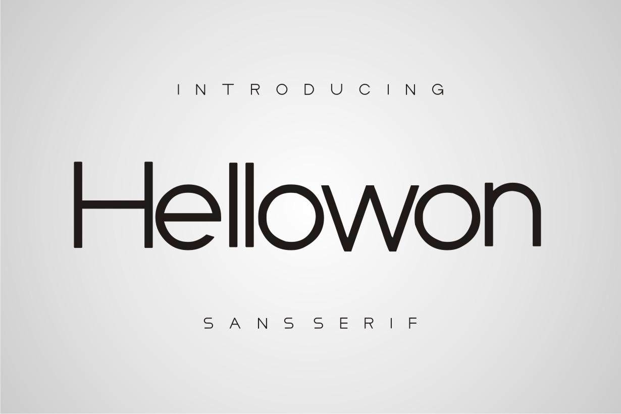 Hellowon Sans Serif Font