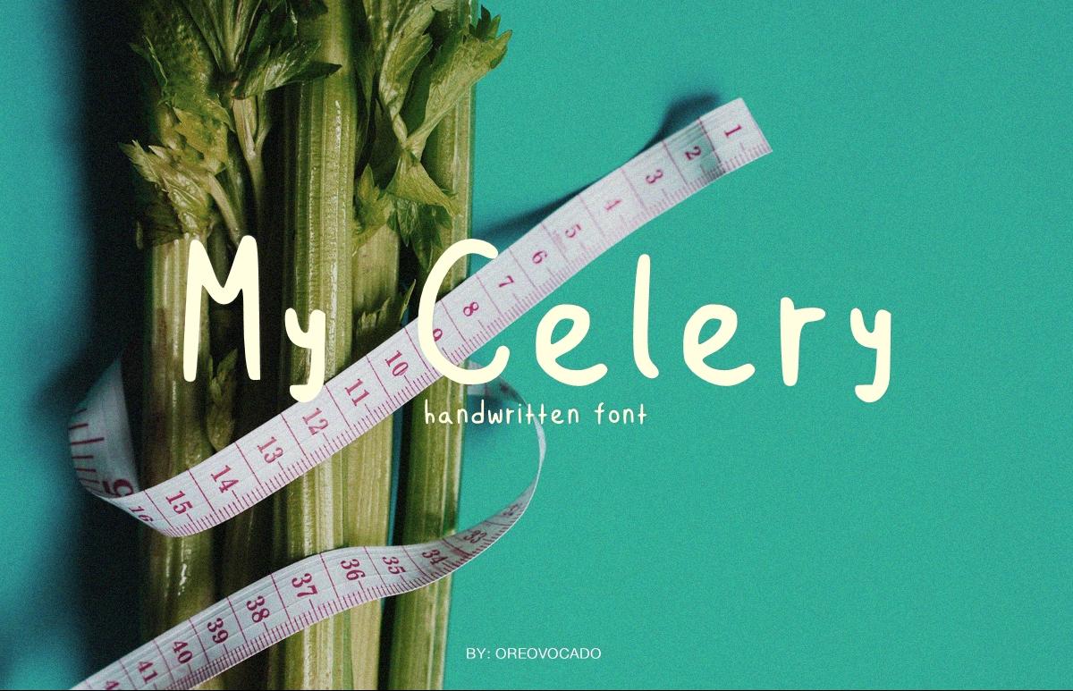 My Celery Display Font