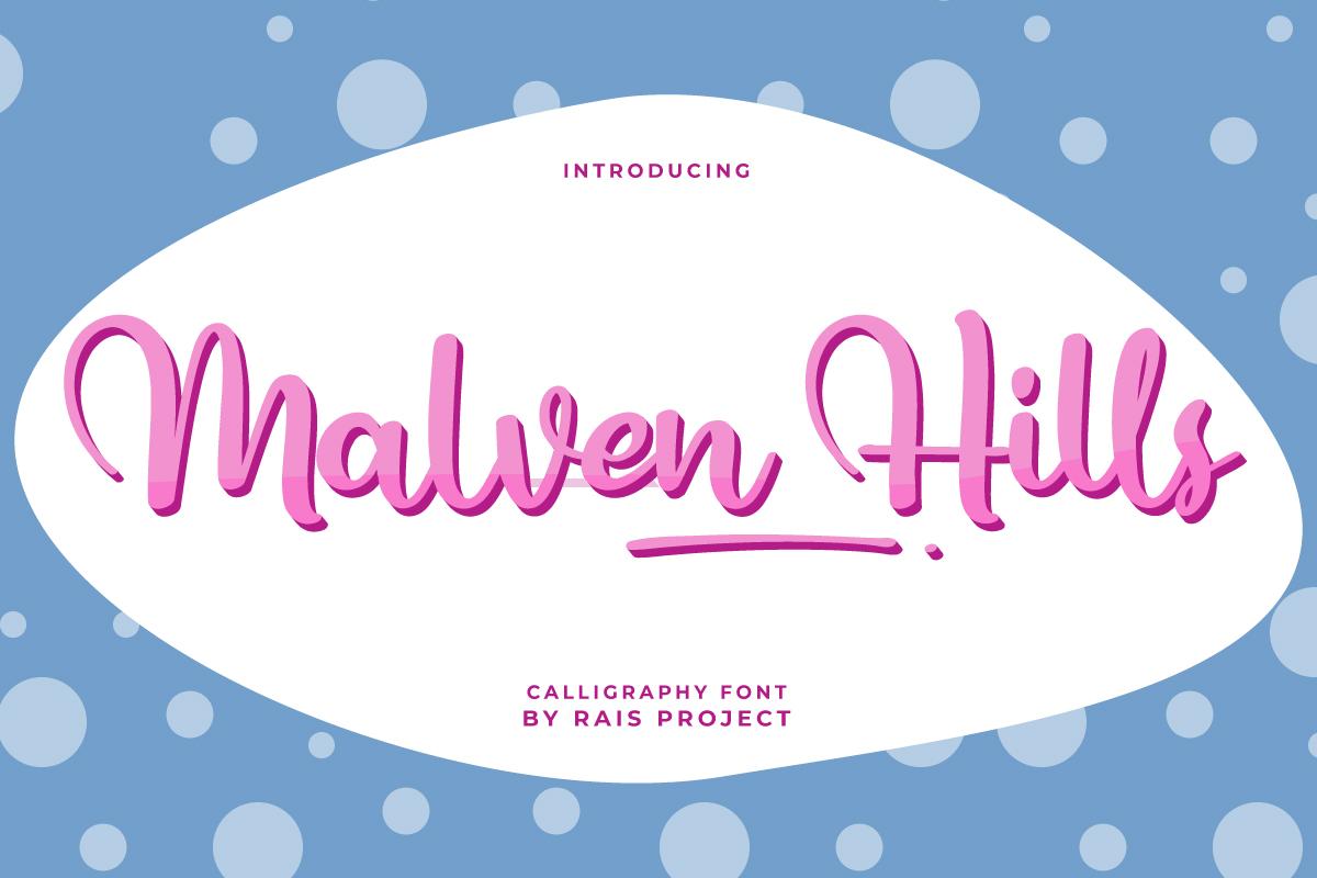Malven Hills Script Font