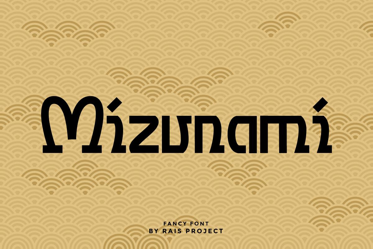 Mizunami Display Font