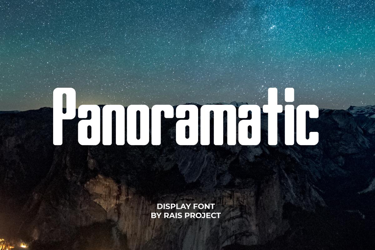 Panoramatic Display Font