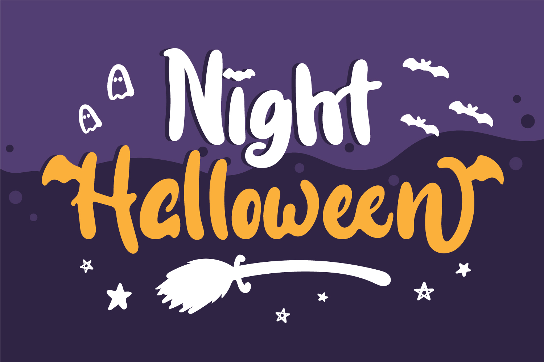 Night Halloween Display Font