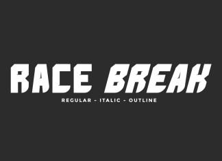 Race Break Display Font