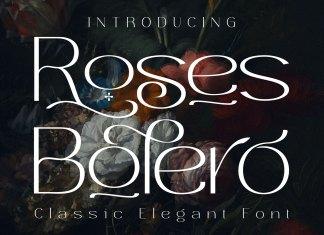 Roses Bolero Elegant Sans Serif Font