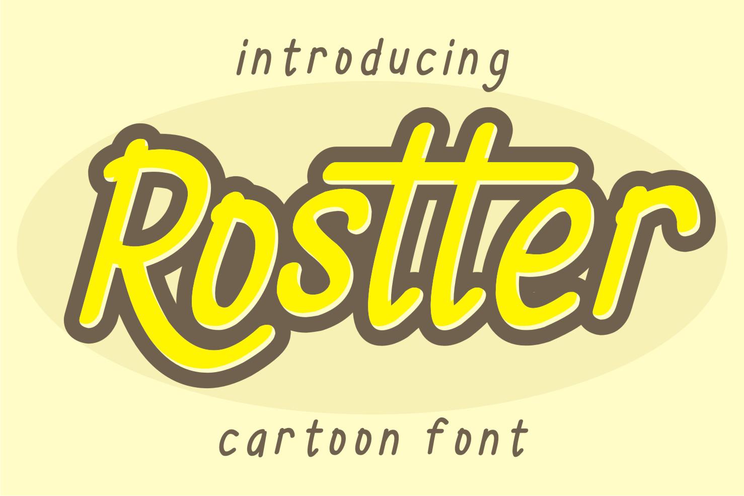 Rostter Display Font