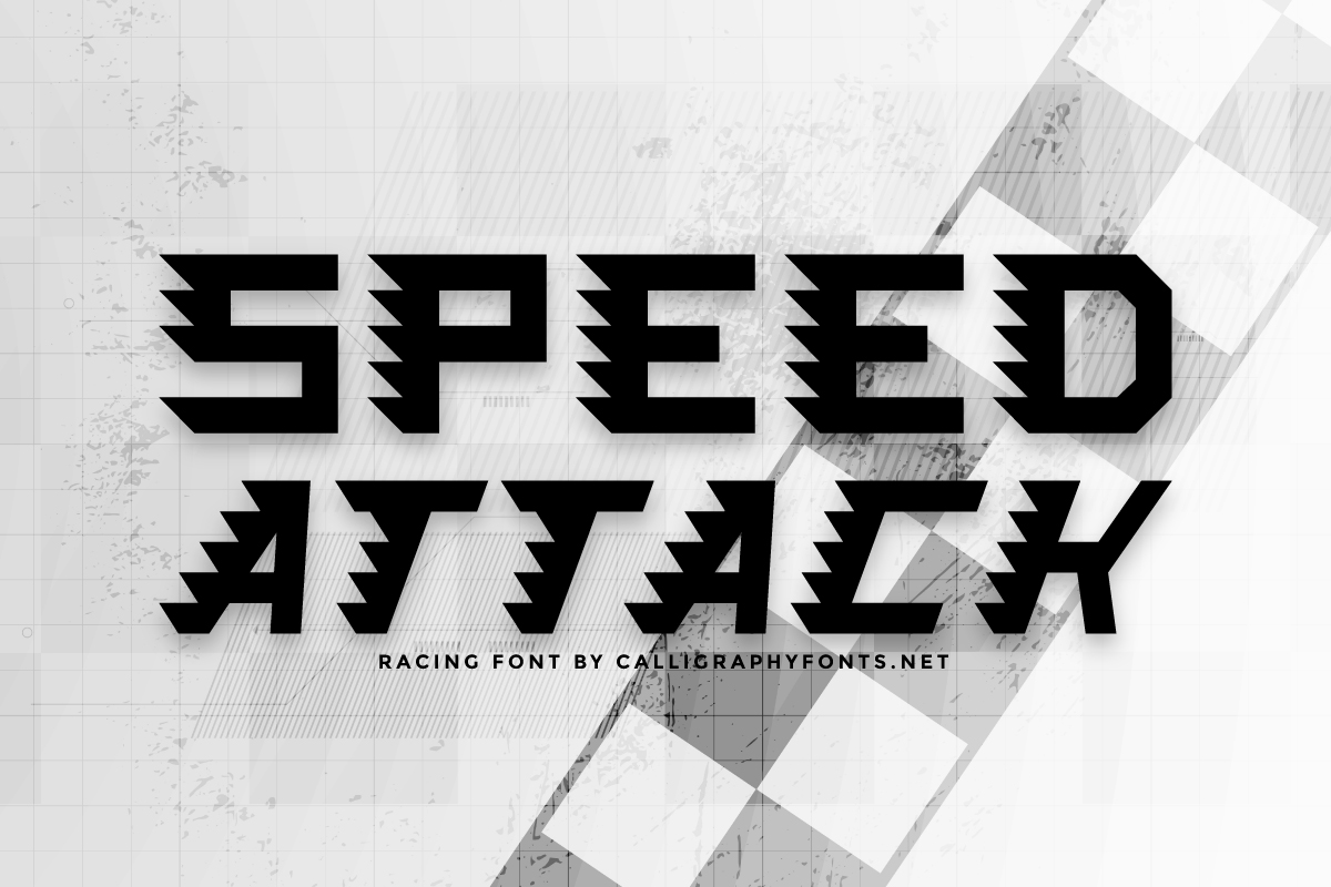 Speed Attack Display Font