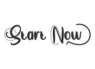Start Now Brush Font