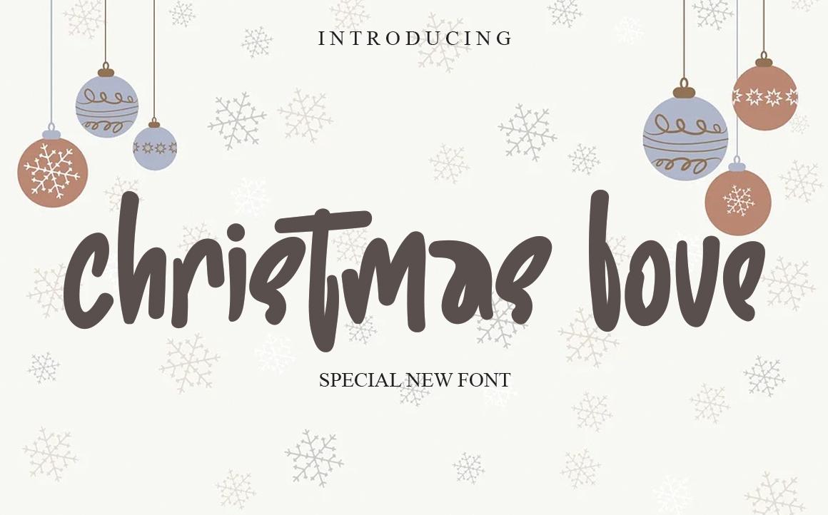 Christma Love Script Font