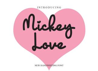 Mickey Love Handwritten Font