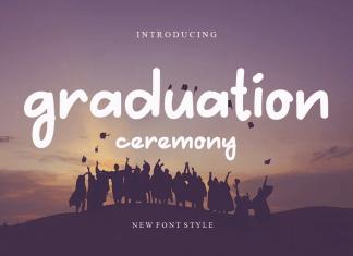 Graduation Cerenony Handwritten Font