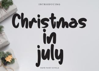 Christmas In July Script Font