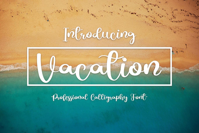 Vacation Script Font